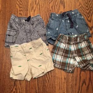 4 pairs of Carters baby shorts